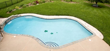 Overview of inground Luxury Pool in Anne Arundel County
