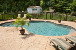 A beautiful pool deck.